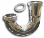 Larsen Supply 03-3507 1-1/2-Inch,Chrome Plated Brass,22 Gauge,Captive Nut,J-Bend,Carded