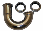 Larsen Supply 03-3517 Lavatory Drain J-Bend, Chrome-Plated Brass, 1-1/4-In. O.D.