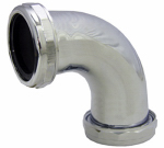Larsen Supply 03-3853 1-1/2-Inch,Chrome Plated Brass,Slip Joint Both Ends,90 Degree Elbow,With Nuts & Washers,Carded