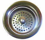Larsen Supply 03-1039 Extra Heavy Duty Kitchen Sink Strainer, Chrome Plated Brass
