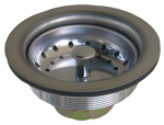 Larsen Supply 03-1051 Kitchen Sink Strainer, Stainless Steel, 3-1/2-In. O.D.