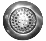 Larsen Supply 03-1073 Chrome Plated ,Stainless Steel Body,Flat Top Kitchen Sink Strainer Assembly For 3-1/2-Inch Opening,Carded