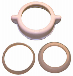 Larsen Supply 03-1845 1-1/2-Inch White Plastic Slip Joint Nut With 1-1/2-Inch and 1-1/2-Inch X 1-1/4-Inch Reducing Washers,Carded