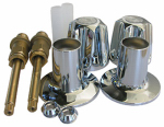 Larsen Supply Co, 01-9171 Tub & Shower Rebuild kit or kitchen For Price Pfister Verve, 2-Valve, Chrome