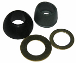 Larsen Supply 02-2235 7/16 Inch Rubber Cone Washer and Brass Ring Kit