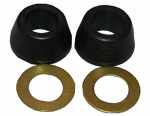 Larsen Supply 02-2237 3/8 Inch Rubber Cone Washer and Brass Ring Kit