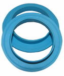 Larsen Supply 02-2295 Vinyl,1-1/2-Inch Solution Flanged Tailpiece Washers,Carded