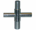 Larsen Supply 01-5223 Metal, Outside Faucet/Hose Bibb Key,Cross Shaped,Fits Square Broach 1/4,9/32,5/16,& 11/32-Inch Sizes