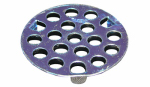 Larsen Supply 03-1333 Chrome Plated,Flat,Three Prong Strainer, 1-7/8-Inch,Carded