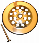 Larsen Supply 03-1365 Polished Brass Shower/Tub Drain Strainer Cover