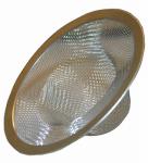 Larsen Supply 03-1384 Shower Mesh Bathtub Strainer with Chrome Ring for Bathtub Drain, Stainless Steel