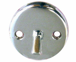 Larsen Supply 03-1403 Bathtub Trip Plate And Lever With Screws, Chrome Plated Finish