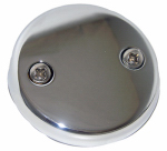 Larsen Supply 03-1425 Bathtub Waste And Overflow Plate, Two Hole Style, With Screws Chrome Plated