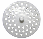 Larsen Supply 02-4021 White Plastic Disposal Sink Strainer,Fits Most,Carded