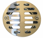 Larsen Supply 03-1231 Shower Drain, 3-1/2 Inch Stainless Steel With 1-1/2 Inch Female Iron Pipe Thread