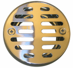 Larsen Supply 03-1243 Shower Drain Grate, 3-1/4 Inch With 2 Screws Chrome Plated