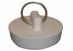 Larsen Supply 02-3209 White Rubber,Hollow Stopper For 1-1/2-Inch Drain Openings,Carded