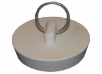 Larsen Supply 02-3211 Sink Stopper, White Hollow Rubber, 1-1/2 to 1-5/8-In. Drain
