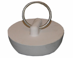Larsen Supply 02-3217 White Rubber,Hollow Stopper For 2-Inch Drain Openings,Carded