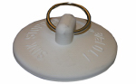 Larsen Supply 02-3233 White Rubber Stopper For Bath Tub Drain,Fits 1-1/2-Inch To 2-Inch,Carded