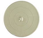 Larsen Supply 02-3311 White Rubber,Flat Suction Type Stopper, 4-3/4-Inch Diameter,Carded