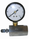 Larsen Supply 13-1891 Gas Test Gauge, 0 to 15 PSI