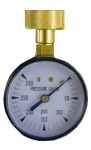 Larsen Supply 13-1901 Water Test Gauge, 0 to 300 PSI