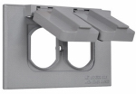 Hubbell Electrical Products 1C-DH-ALX Outlet Flip Cover, Single-Gang, Horizontal, Weatherproof, Gray