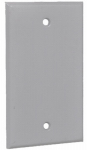 Hubbell Electrical Products 1BCX 1-Gang Rectangular Blank Cover, Weatherproof, Gray