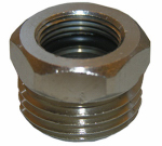 Larsen Supply 10-0013 1/2 Iron Pipe Size  Supply Line x 3/8-Inch Female Compression Thread Reducing Adapter