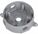 Hubbell Electrical Products BRD-4 Gray Weatherproof Round Outlet Box