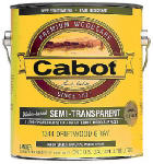 Cabot/Valspar 1306-07 Siding Stain, Neutral Base, Exterior, Semi-Transparent, Water Based, 1-Gal.