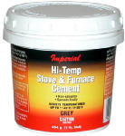 Imperial Mfg Group Usa KK0068-A Hi-Temperature Stove/Furnace Cement, Gray, 8-oz.