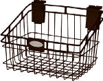 Suncast MB0812B 8 x 12-Inch Black Wire Basket