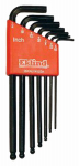 Eklind Tool 13207 Ball Hex Key Set, 7 SAE Sizes