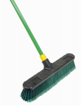 Quickie Mfg 00528 Bulldozer Indoor/Outdoor Push Broom, 18-In.