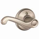 Schlage Lock F170VFLA619LH Satin Nickel Flair Left-Hand Single Dummy Lever