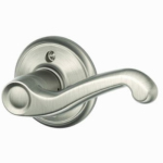 Schlage Lock F170VFLA619RH Satin Nickel Flair Right-Hand Single Dummy Lever