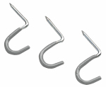 Crawford Products HS16 1-Inch Curved Hammer-In Hook, 3-Pack