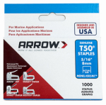 Arrow Fastener 505M1 Monel Staples, T50, 5/16-In., 1,000-Pk.