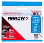 Arrow Fastener 506M1 Monel Staples, T50, 3/8-In., 1,000-Pk.