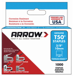 Arrow Fastener 506SS1 Staples,T50, 3/8-In., 1000-Pk.