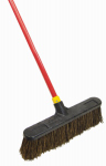 Quickie Mfg 526 Bulldozer Push Broom, Rough Surface, Palmyra Bristles, 18-In.