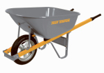 Ames Companies The R6STSP25 Heavy Gauge Landscaper Wheelbarrow, 6-Cu. Ft.