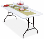 Wok & Pan Indoor Limited-Import TBL-072 Deluxe Banquet Table, Lightweight, 30 x 72-In.