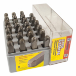 Hanson C H 20200 Letter Stamp Set, 1/8-In., 27-Pc.