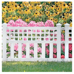 Suncast GVF24 White Grand View Fence, 20-1/2 x 24-In.