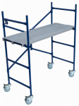 Louisville Ladder SM1504 4-Ft. Steel Ladder/Mini Fortress Mobile Work Stand 500-Lb. Duty Rating