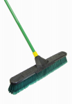 Quickie Mfg 00638 Super Bulldozer Push Broom, Indoor/Outdoor, Green, 24-In.