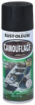 Rust-Oleum 1916-830 Camouflage Spray Paint, Black, 12-oz.